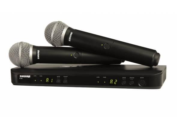 Sistema sem fios com microfone de mão Shure BLX288/PG58