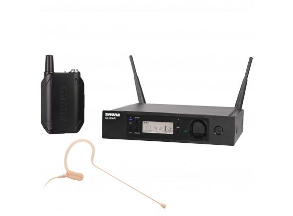 Sistema sem fio com microfone de cabeça Shure  GLXD14RE/MX53-Z2