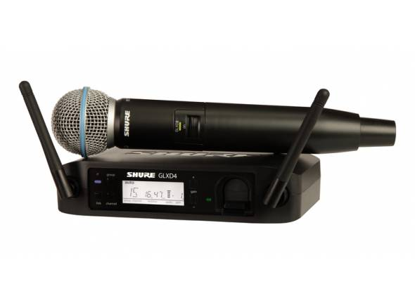 Sistema sem fios com microfone de mão Shure GLXD24/Beta58 Z2