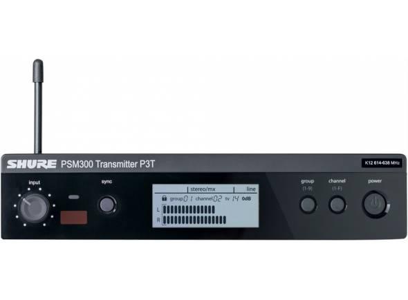 Shure P3T L19  Transmissor sem fio de construção sólida para sistemas de monitores pessoais PSM300