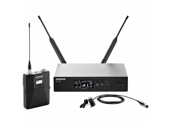 Shure QLXD14 H51  Inclui 1 Transmissor Sem Fio Bodypack QLXD1, 1 Receptor QLXD4 e 1 Cabo para Instrumento WA302