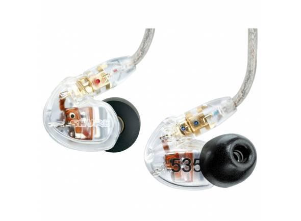 Shure SE535-CL   Electrónica: Triple High-Definition MicroDrivers; Controlo de Volume  Impedância: 36 Ω  Sensibilidade: 119 dB SPL/mW.