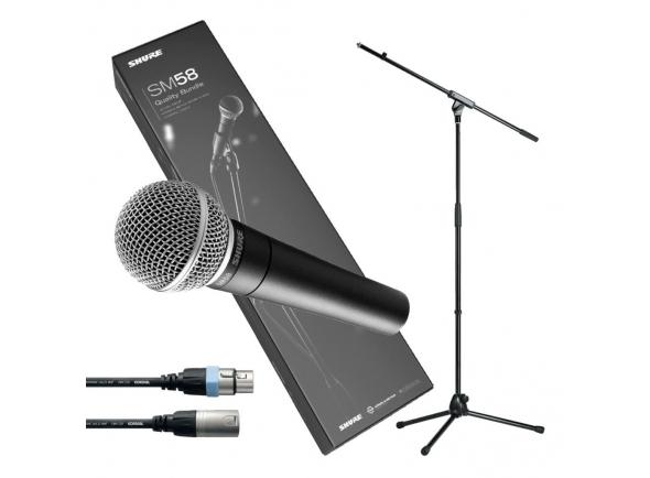Microfone Vocal Dinâmico Shure SM58 Quality Bundle