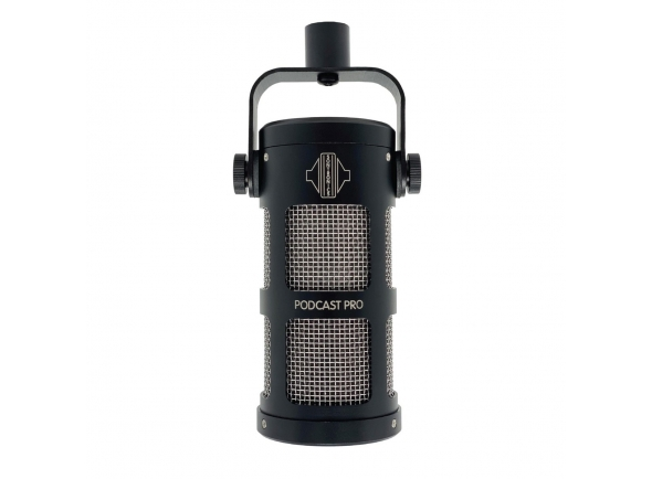 Microfone Vocal Dinâmico Sontronics Podcast Pro Microphone, Black