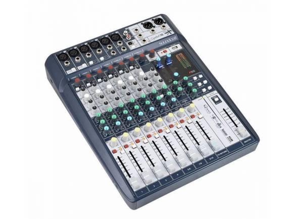 Soundcraft Signature 10   Soundcraft Signature 10, mesa de mistura de 10 canais analógicos de alta performance, pequeno formato e processador de efeitos incorporado.
