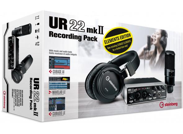 Interface Áudio USB Steinberg UR22MKII Recording Pack Elements Edition