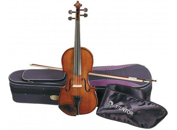 Stentor SR1500 Student II 1/4   Violino em acer e abeto sólidos, acabamento brilhante  Tamanho 1/4  Estojo e arco incluído.