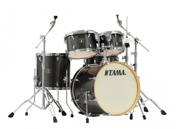 Conjunto de bateria completo Tama Superstar Classic Midnight Gold Sparkle