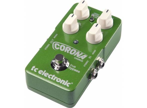 TC Electronic Corona Chorus   Efeitos: 3 tipos de Chorus: Chorus, Toneprint, Tri Cho  Controladores: Speed; Fx Level; Tone; Depth; Type.  USB: 1x