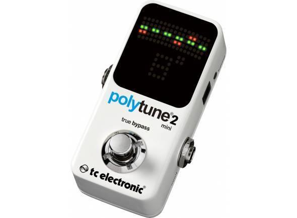 TC Electronic PolyTune 2 Mini   Afinador cromático para guitarra e baixo  Range de afinação: A0 (27.5Hz) a C8 (4186 Hz)  Modo polifónico e strob para visualização