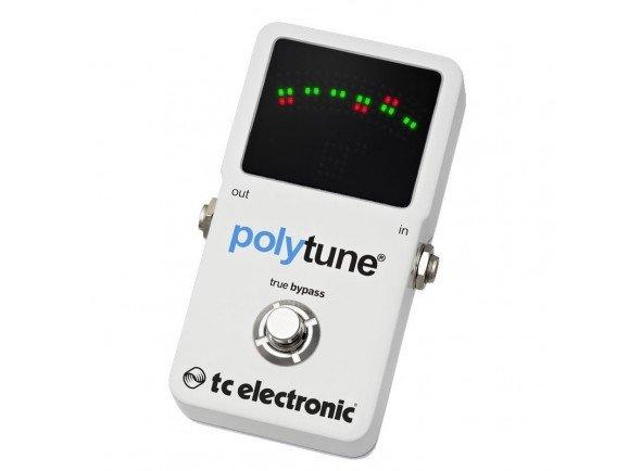 TC Electronic Polytune 2  O original PolyTune abalou o mundo da música   Tecnologia PolyTune® - Afina todas as cordas em simultâneo  Visor brilhante Retina-scorching  Afinador cromático ultra preciso Strobe