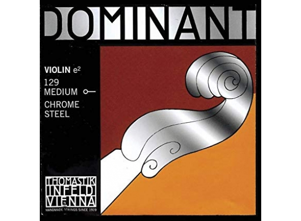 Cordas Thomastik Dominant 1/4 Violin Mi String, Chrome Steel