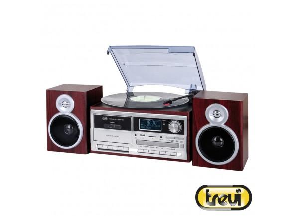 Tocadiscos Trevi Gira-Discos 33/45/78RPM Retro 2x25W Cd/USB/SD