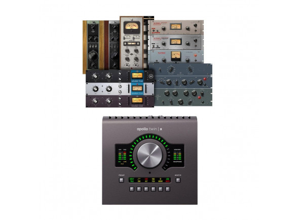 Interfaces de áudio Thunderbolt Universal Audio Apollo Twin X Quad Heritage