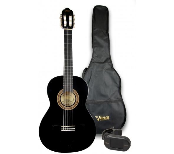 Guitarra clasica Valencia 103K 3/4 Pack Black
