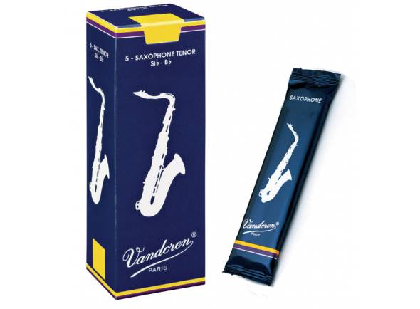 Palheta para saxofone tenor Vandoren Classic Blue 2 Si b Tenor Sax