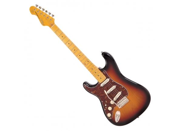 Guitarras Esquerdinos Vintage V6 Reissued Left Handed MN Sunset Sunburst