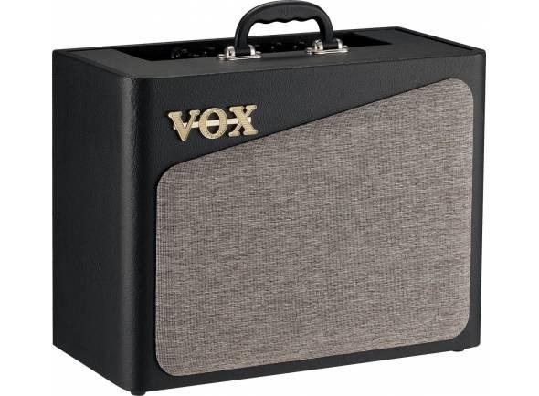 """Vox  AV15  Amplificador de Guitarra Combo Vox AV15   Circuito de preamp: oito (CLEAN1, CLEAN2, CRUNCH1, CRUNCH2, OD1, OD2, H.GAIN1, H.GAIN2)  Válvulas: AV15: 12AX7 x 1  Efeitos: Três (MOD, DELAY, REVERB)  Jacks de entrada/saída: INPUT, FOOT SW, AUX IN, AUSCULTADORES  Saída Power Amp: Máximo aprox. de 15W RMS @5 ohms  Altifalante: VOX original 8"""" 5 ohms  Alimentação: Adaptador AC (DC12V)  Consumo de corrente: 2.50A  Consumo de energia: 27W  Dimensões (L x P x A): 450 × 234 × 377 mm / 17.72"""" x 9.21"""" x 14.84""""  Peso: 7.7 kg / 16.98 lbs.  Acessórios incluídos: Adaptador AC"""