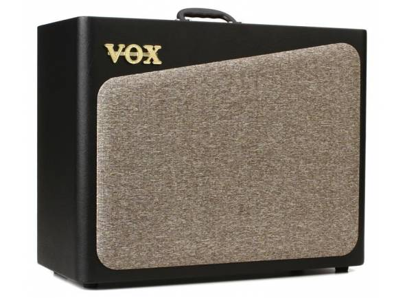 """Vox AV60   Amplificador de Guitarra Combo Vox AV60  Circuito de preamp: oito (CLEAN1, CLEAN2, CRUNCH1, CRUNCH2, OD1, OD2, H.GAIN1, H.GAIN2)  Válvulas: 12AX7 x 2  Efeitos: Três (MOD, DELAY, REVERB)  Jacks de entrada/saída: INPUT, FOOT SW, AUX IN, AUSCULTADORES, FX LOOP, ALTIFALANTE EXTERNO  Saída Power Amp: Máximo aprox. de 60W RMS @3 ohms  Altifalante: VOX original 12"""" 3 ohms  Alimentação: Voltagem local  Consumo: 36W  Dimensões (L x P x A): 590 × 272 × 491 mm / 23.23"""" x 10.71"""" x 19.33""""  Peso: 16.6 kg / 36.60 lbs  Acessórios incluídos: cabo Ac  Acessórios (vendido em separado): Footswitch (VOX VFS2/ VFS5)"""