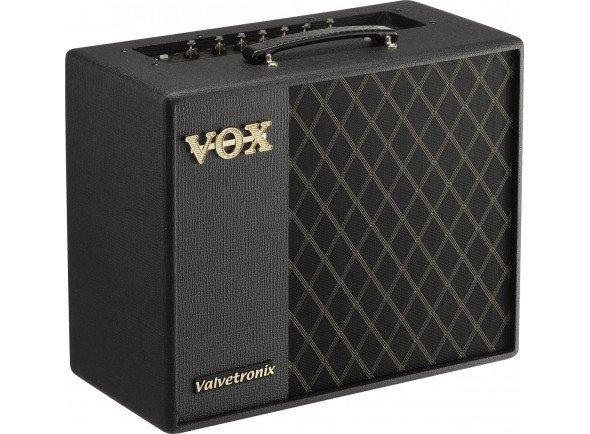Vox  VT40X   O VT40X possui um novo motor de modelagem e novos sons! Ao usar o VET (Virtual Element Technology), baseado na análise dos componentes dos próprios circuitos de amplificadores, os amplificadores VTX produzem os sons de amplificador mais precisos e realistas até à data. Estes novos amplificadores também possuem um pré-amplificador com uma válvula Valvetronix.