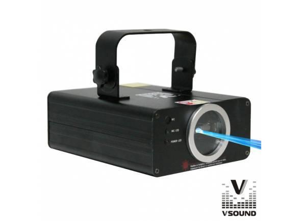 VSOUND VSLASER100B  Laser 100MW Azul com DMX e Regulação VSOUND VSLASER100B