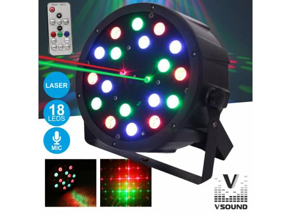 Projector LED PAR VSOUND VSPROJPL18LA