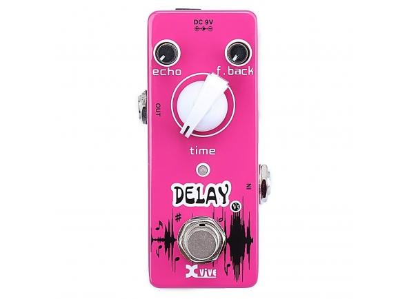 """XVive V5 Delay   XVive V5 Delay  Controles de """"echo"""", """"time"""" e """"feedback"""".  100% analógico.  Chaveamento True-Bypass.  LED indicador de funcionamento.  Alimentação: Fonte 9V DC. (Fonte não inclusa)"""