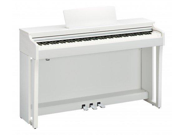 Yamaha CLP-625 WH   Polifonia de 256 notas  10 vozes  GH3X (Graded Hammer 3X) com teclados sintéticos de ébano e marfim
