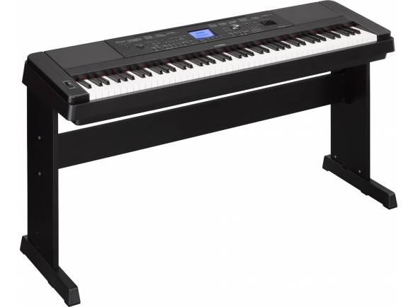 Yamaha DGX-660B B-Stock  Contemporâneo e versátil, o Yamaha DGX-660B irá satisfazer Gregos e Troianos!   Teclado de 88 teclas GHS  Polifonia de 192 notas;  151 presets de sons,  GHS (Graded Hammer Standard) com 4 escolhas de resposta - Soft, Medium, Hard e Fixed;  Tecnologia Pure CF Sound Engine;  151 presets de sons, 15 presets de kits de bateria/efeitos e 388 presets XGlite;  205 estilos de acompanhamento com Style Recommender e One Touch Setting (OTS);  100 presets de músicas;  Função dual e split;  Efeitos: Reverb (41 tipos), Chorus (44 tipos), DSP (237 tipos), Master EQ 5 tipos e Inteligent Acoutic Control;  Gravador de 6 faixas (5 músicas);  Memória interna de aproximadamente 1,7 MB (expandível com drive externa por USB);  Ecrã LCD (320x240);  2 colunas com amplificador de 6W cada;