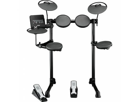 Yamaha DTX400K Compact E-Drum Set  O DTX400K é perfeito para todas aquelas e aqueles que desejam aprender a tocar bateria.   Pads de Borracha   Pads: 9 (1x Bombo, 1x Tarola, 3x Timbalões, 2x Pratos, 1x Hi-Hat, 1x Controlador de Hi-Hat)    Sons: 169 (23 Tarolas, 21 Bombos, 36 Timbalões, 31 Pratos, 16 Hi-Hats, 42 Percussão)