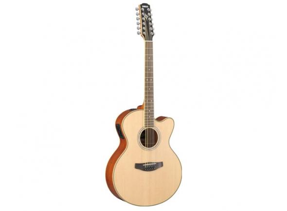 """Yamaha Guitarra Eletroacústica 12 cordas  CPX700II12 Natural  Esta é uma versão de 12 cordas do CPX700II. As guitarras da série 700 possuem estilo e especificação orientadas pelas guitarras série 1000, mas com o exclusivo sistema de coleta ART. Projetado para capturar a ressonância de corpo inteiro da guitarra, a capacidade da ART de recriar fielmente o tom natural e a dinâmica significa que as diferenças sutis entre as guitarras APX e CPX são perfeitamente recriadas, permitindo que você escolha a guitarra que melhor se adapte ao seu estilo e saiba que ela sempre brilhará. .    -Acousticsteel guitarra  Corda -12  -CPX  Recorte  -Sólido Topspruce  -Back lado lado da OTAN  -Translucent acabamento de cabeçote preto  -Natoneck  -Placa de madeira  -Dotinários  -Rosewoodbridge  -Frutas  -Passo de comprimento 634 mm  - Largura 46 mm  -Preamp """"System 64 1-way A.R.T."""", captador de contato (instalado dentro do corpo)  -Machineheads Yamaha Die-Cast cromado  -Acabamento: natural"""