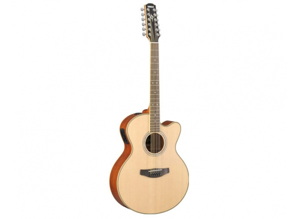 Guitarras Folk Yamaha Guitarra Eletroacústica 12 cordas  CPX700II12 Natural