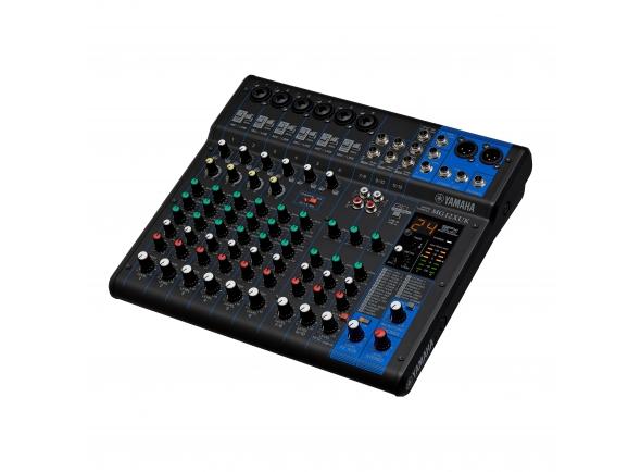 """Yamaha MG12XUK  Mesa de Mistura de 12 canais: máx. 6 entradas de microfone / 12 linhas (6 mono + 3 estéreo) / 1 barramento estéreo / 1 AUX (incl. FX)     12 canais  Max. 6 entradas de microfone / 12 linhas (6 mono + 3 estéreo)  1 barramento estéreo  1 AUX (incl. FX)  Pré-amplificadores de microfone """"D-PRE"""" com um circuito Darlington invertido  Compressores de 1 botão  Efeitos de alta qualidade: SPX com 24 programas  24 bits / 192kHz 2in / 2out funções de áudio USB  Funciona com o iPad (2 ou posterior) através do Kit de Conexão da Câmera do iPad da Apple / Lightning para o Adaptador de Câmera USB  Inclui a versão de download do software Cubase Al DAW  Cubasis LE para iPad disponível na App Store  Interruptor PAD em entradas mono  + Phantom power de 48V  Saídas balanceadas XLR  Chassi de metal  Dimensões (L × A × P): 315 mm x 91 mm x 297 mm (12.4 """"x3.6"""" x11.7 """")  Peso Líquido: 3,0 kg (6,62 lbs.)"""