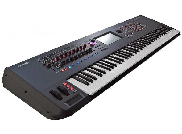 Yamaha Montage 7   Yamaha Montage 7  Quantidade de Teclas: 76  Tipo de teclas: FSX Keyboard  Notas de polifonia: AWM2: 128 (max.; stereo/mono waveforms) FM-X: 128 (max.)  Quantidade de sons: Reverb x 12 types, Variation x 76 types, Insertion (A, B) x 76 types*, Master Effect x 15 types *A/D part insertion x 71 types (Preset settings for parameters of each effect  type are provided as templates) Master EQ (5 bands), 1st part EQ (3 bands), 2nd part EQ (2 bands)  Cor: Preta  Oitavas: 6  Acompanha Fonte: Sim  Dimensões: (LxAxP) 124,4 x 13,1 x 39,6 (cm)  Peso: 17 kg  Conexão USB Audio/MIDI  SSS (Seamless Sound Switching)  A/D Input  Controle Físico  LIVE SET  Configurações Direct Control Assignment  Cubase AI incluso