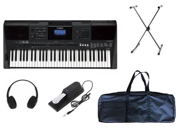 Yamaha PSR-E453 Deluxe SET  Deluxe SetYamaha PSR-E453+ Headphones + Suporte + Pedal + Saco