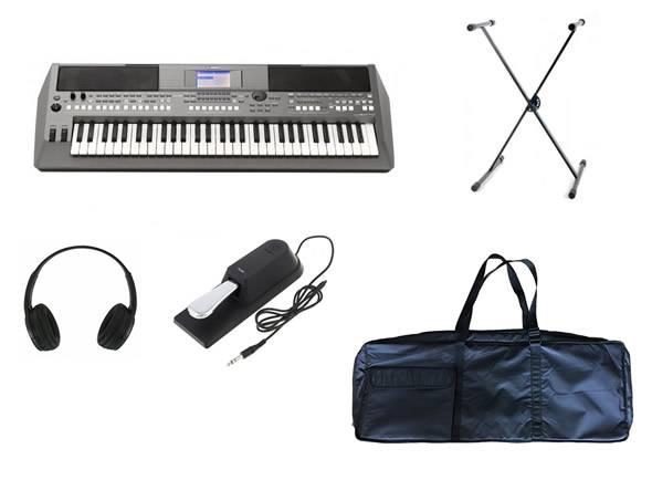 Yamaha PSR-S670 Deluxe SET  Deluxe Set Yamaha PSR-S670+ Headphones + Suporte + Pedal + Saco Teclado