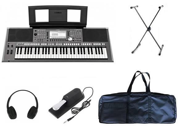 Yamaha PSR S970 Deluxe SET  Deluxe SetYamaha PSR-S970+ Headphones + Suporte + Pedal + Saco Teclado