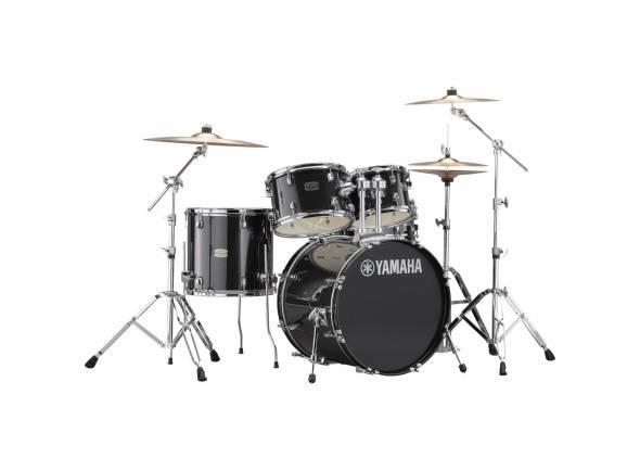 Conjunto de bateria completo Yamaha Rydeen Studio Black Glitter 20