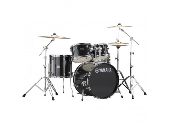 Conjunto de bateria completo Yamaha Rydeen Studio Black Glitter 20 B-Stock