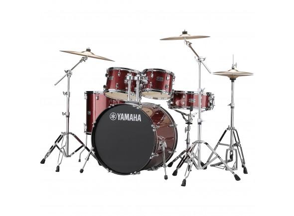"Conjunto de bateria completo Yamaha Rydeen Studio Burgundy Glitter 20"""