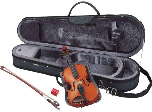 Yamaha V5 SC 1/16  Ideal para os jovens violinistas   Violino 1/16  emMadeira Natural  Com Estojo e Arco