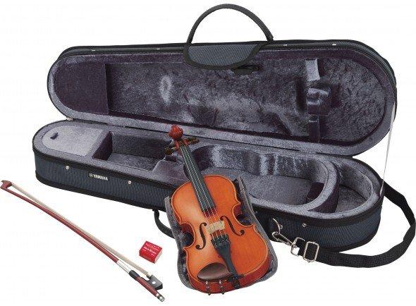 Yamaha V5 SA 3/4  Ideal para os jovens violinistas   Violino 3/4  em Madeira Natural  Com Estojo e Arco