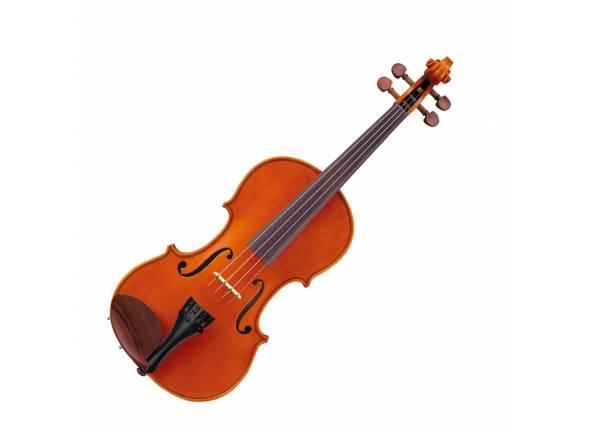 Yamaha V7 SG44  4/4   Violino Yamaha V7 SG 4/4  Inclui Estojo e Arco  Tampo: abeto  Fundo, costelas e aros: ácer  Corpo tipo: Stradivarius  Diapasão: ébano  Cravelhas, queixeira e botão: ébano  Estandarte Wittner Ultra  Cordas D'Addario Helicore  Cavalete tipo Aubert  Fornecido com resina Pirastro Schwartz, 4 afinadores de micro afinação Wittner