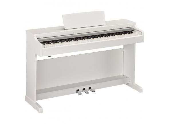 Yamaha YDP-163 WH Arius  Yamaha YDP-163 WH Arius  A escolha de excelência tanto para o estudante em desenvolvimento como para o pianista com mais experiência.   Teclado Graded Hammer 3 (GH3) com teclas com acabamento em marfim sintético  10 sons  Polifonia a 192 notas (máximo)