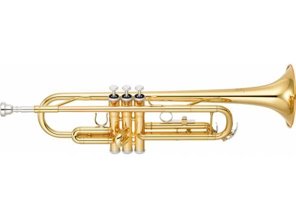 "Yamaha YTR 3335  Trompete em Si bemol, Campânula: ""Yellow Brass"", 123mm (4-7/8""), Tubo/calibre: ML 11,65mm (0,459""), Acabamento: Lacado a ouro, Peso: Médio, Bocal: TR-11B4."