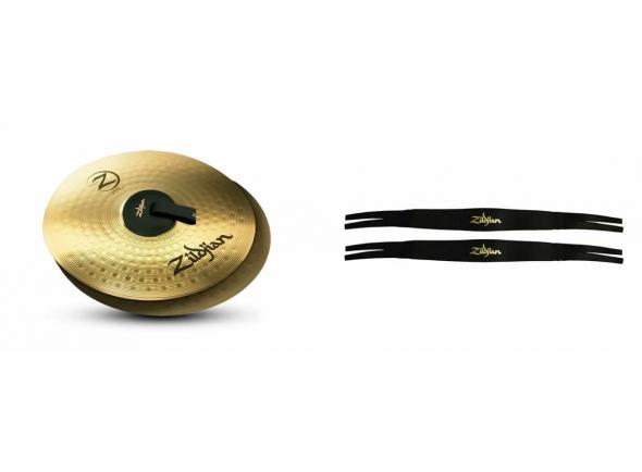 """Zildjian Planet Z Band 14 c/Correia    Par de Pratos 14"""", fabricado em liga Planet Z Silver Nickel (forjada com Zinco e Cobre, com traços de níquel), conferindo maior durabilidade e sonoridade brilhante. Seu novo martelamento pneumático proporciona uma sonoridade inovadora para os pratos de categoria iniciante. Com correias Made in USA."""
