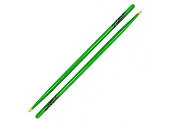 Baqueta 5A Zildjian Z5AACDGG 5A Neon Green Drumsticks