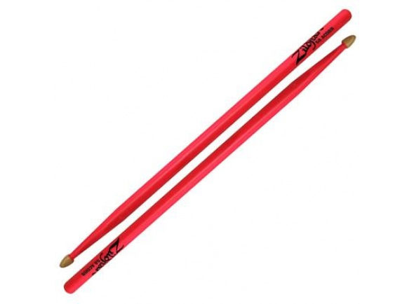 Baqueta 5A Zildjian Z5AACDGP 5A Neon Pink Drumsticks