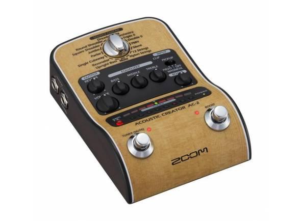 Zoom AC-2  Amplifique seu som da sua guitarra com o Zoom AC-2 Acoustic Creator.
