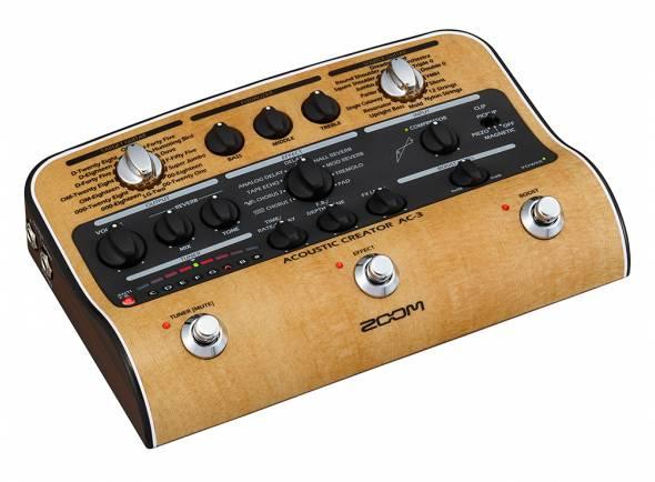 Zoom AC3  Pedal de efeito para guitarra acústica